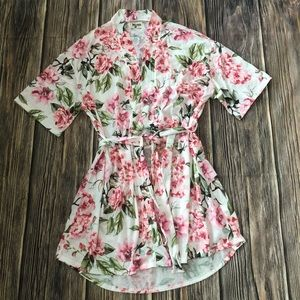 Floral robe-Never used! OSFM